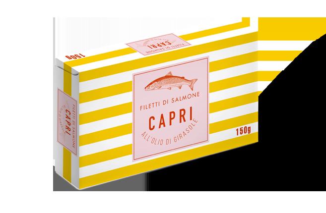 Filetti di Salmone Olio Girasole Capri | 150g