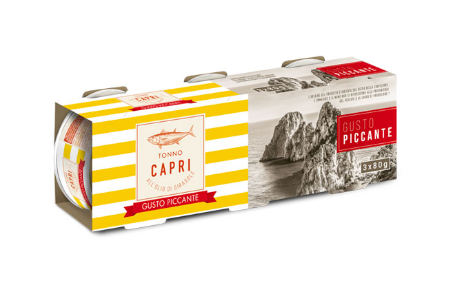 Tonno Olio Girasole Piccanti Capri | Cluster 80gx3