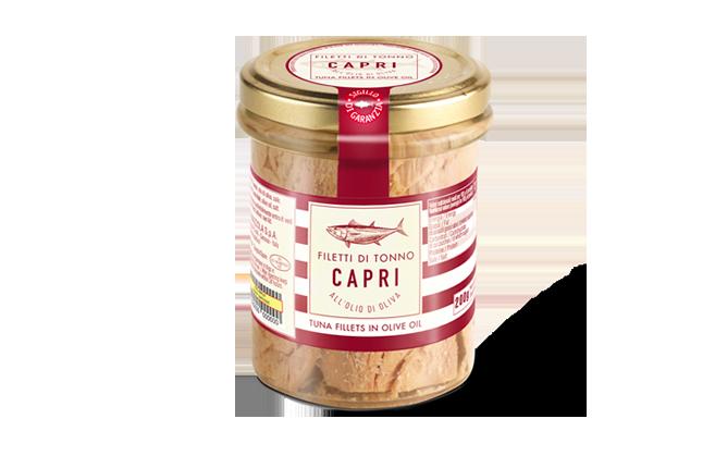 Filetti di Tonno Olio Oliva Capri