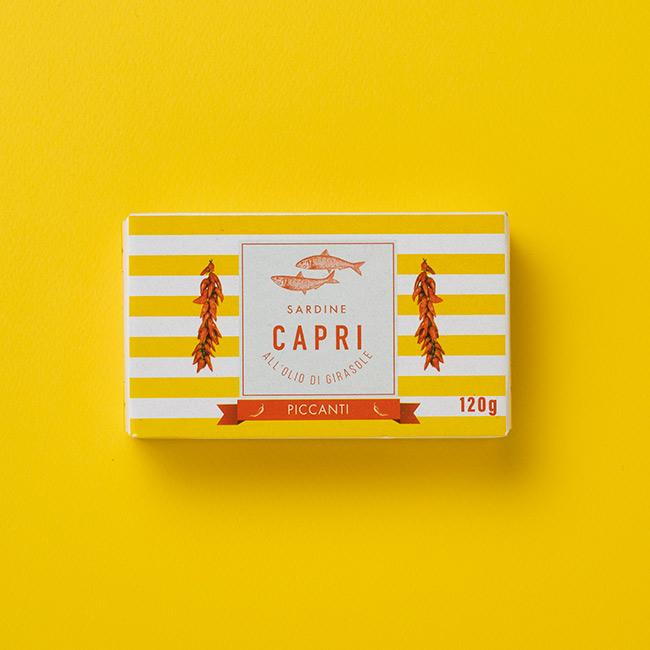 Sardine all'Olio di Girasole Piccanti Capri