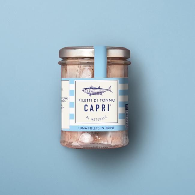 Filetti di Tonno al Naturale Capri | Vaso vetro