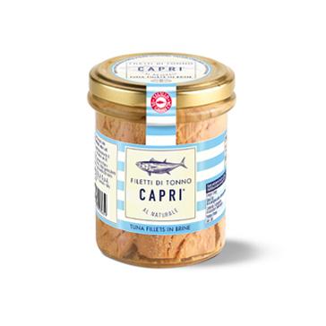 Tonno Capri - Filetti al Naturale - Vaso vetro